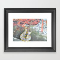 Guitar Graffiti Framed Art Print