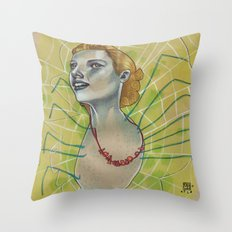 SPIDER WITH NECKLACE Throw Pillow