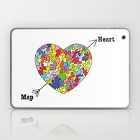 Heart Map Laptop & iPad Skin