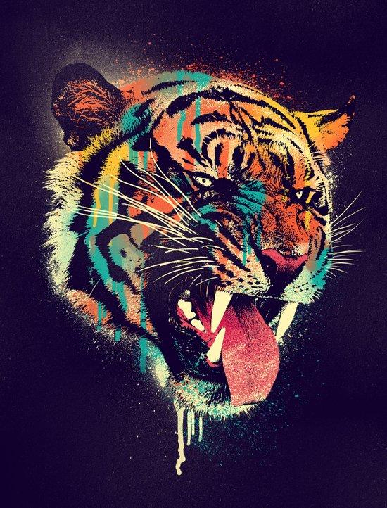 FEROCIOUS TIGER Canvas Print