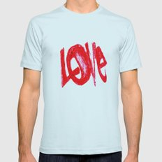 more love Mens Fitted Tee Light Blue SMALL
