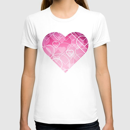 Hard line Heart Bokeh T-shirt
