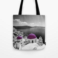 Santorini magenta Tote Bag