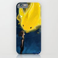 iPhone & iPod Case featuring Kid & goldfish by Raven Ngo