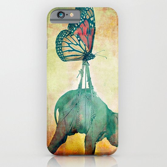 The elephant and the butterfly iPhone & iPod Case