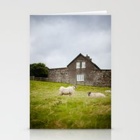 Sheep Blown By The Wind Stationery Cards