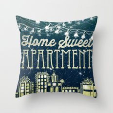 Home Sweet Apartment Throw Pillow