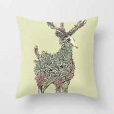Beautiful Deer Old Throw Pillow