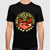 Picknick Bears Mens Fitted Tee Black SMALL