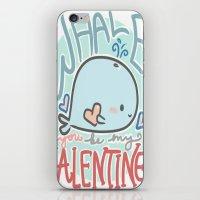 Whale You Be My Valentine iPhone & iPod Skin
