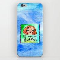 I Am A Goddess iPhone & iPod Skin