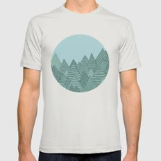 Forest Mens Fitted Tee Silver SMALL