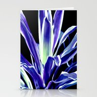 Indigo Blue Flower Stationery Cards
