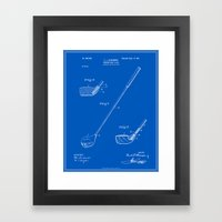 Golf Club Patent - Blueprint (v1) Framed Art Print