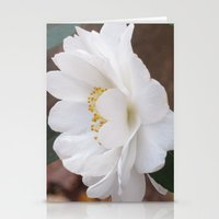 White Camellias Rampant Stationery Cards
