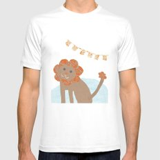 lion collage Mens Fitted Tee White SMALL