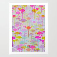 Flamingo Land Art Print
