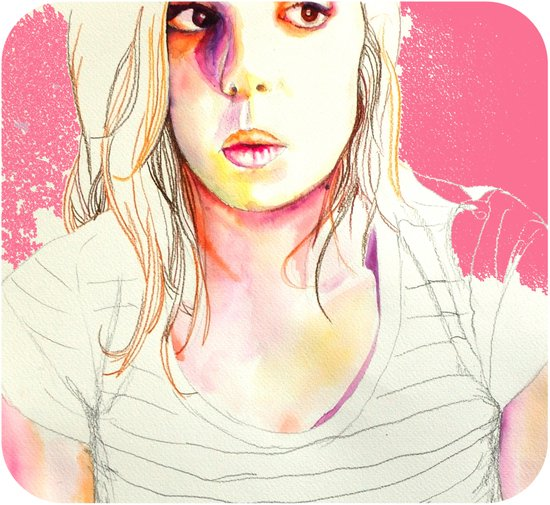 sara watercolor Art Print