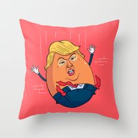 Trumpty Dumpty Throw Pillow