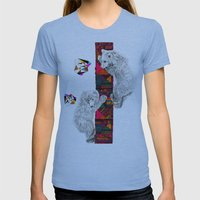 The Innocent Wilderness by Peter Striffolino and Kris Tate Womens Fitted Tee Athletic Blue SMALL