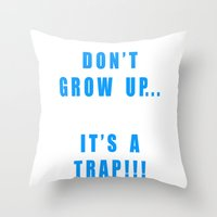 IT'S A TRAP!!! Throw Pillow