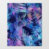 Waikiki Tropic {Blue} Canvas Print