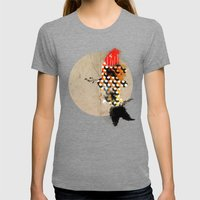 Carp_koi_ink Womens Fitted Tee Tri-Grey SMALL