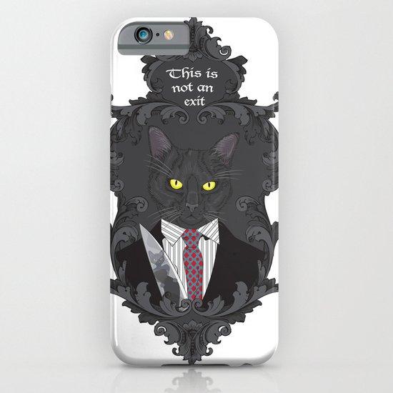 American Psycho Kitty iPhone & iPod Case
