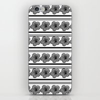 Flowers And Stripes iPhone & iPod Skin