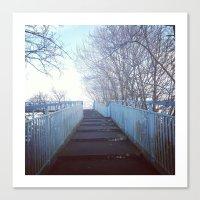 Blue Footbridge Canvas Print
