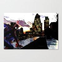 Spiderman In London Canvas Print
