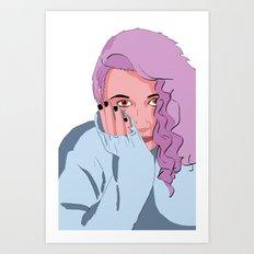 Pop Girl Art Print