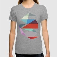 Shapes 015 Womens Fitted Tee Tri-Grey SMALL