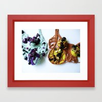Purple Beaded Mist and Harvest Lace Photography Framed Art Print