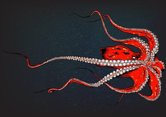 Kiss Of The Octopus Art Print