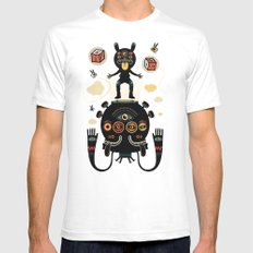 Monstertrap SMALL White Mens Fitted Tee