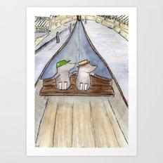 The Moles visit Venice Art Print