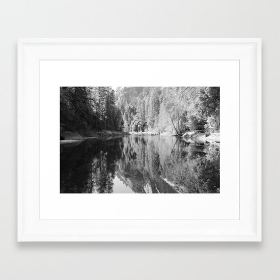 reflections in black and white framed art print by liveart4evr