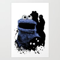 Monster Madness: Cookie … Art Print