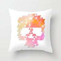 Skull Pink Throw Pillow