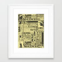 Down With The Shine Framed Art Print