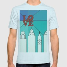 LOVE shine Mens Fitted Tee Light Blue SMALL