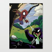 Kid Spidey Canvas Print