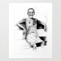 DAVIS, JR. Art Print