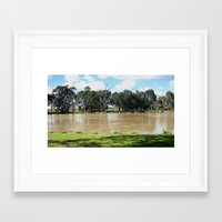 Flooded Plains Framed Art Print