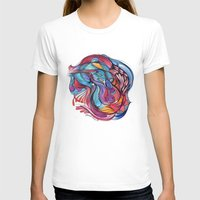 Guitar Womens Fitted Tee White SMALL