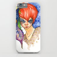 red head and feathers iPhone 6 Slim Case