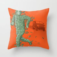 The Six Million Dollar Man Throw Pillow