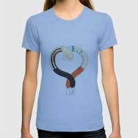 Hearted Womens Fitted Tee Athletic Blue SMALL