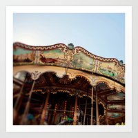 Carousel In Marseille Art Print